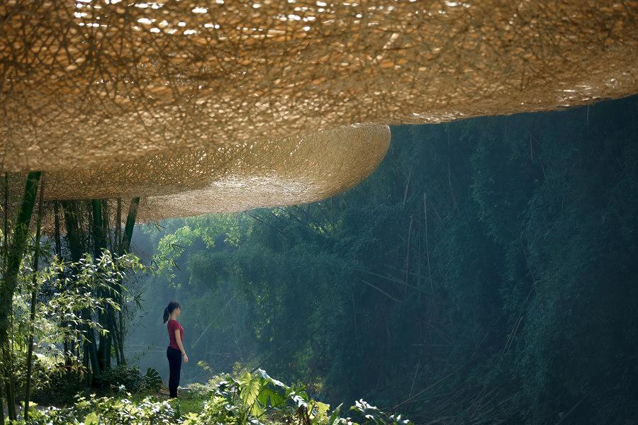 Fantasías de bambú con aire teatral